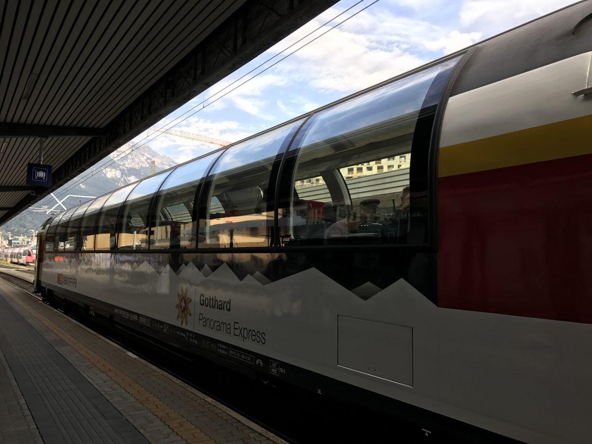 """Mit dem Panoramawagen durch die Alpen: Fahrt mit dem EC """"Transalpin"""" zwischen Graz und Zürich"""