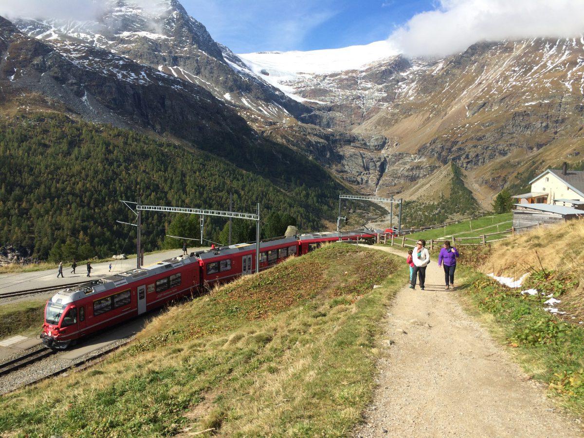 Im umgeleiteten Nachtzug nach Rom und über die Berninabahn zurück